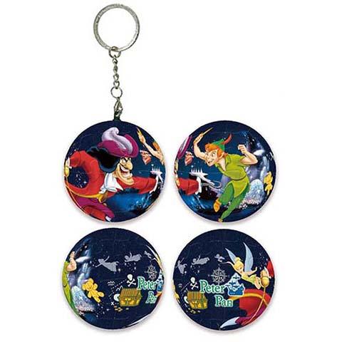 Peter Pan小飛俠彼得潘球形拼圖鑰匙圈24片