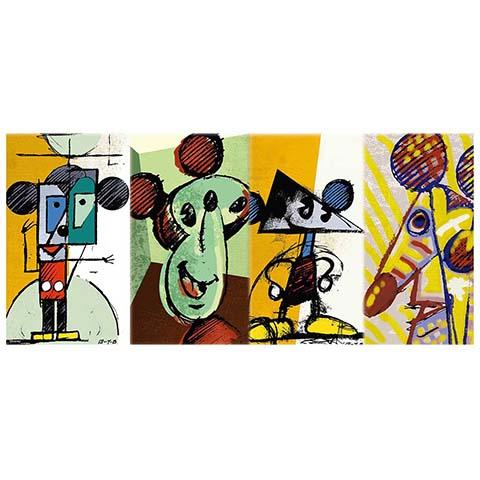 Mickey Mouse米奇抽象畫拼圖510片
