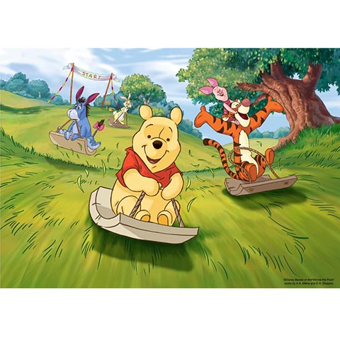 Winnie The Pooh開心滑草拼圖520片