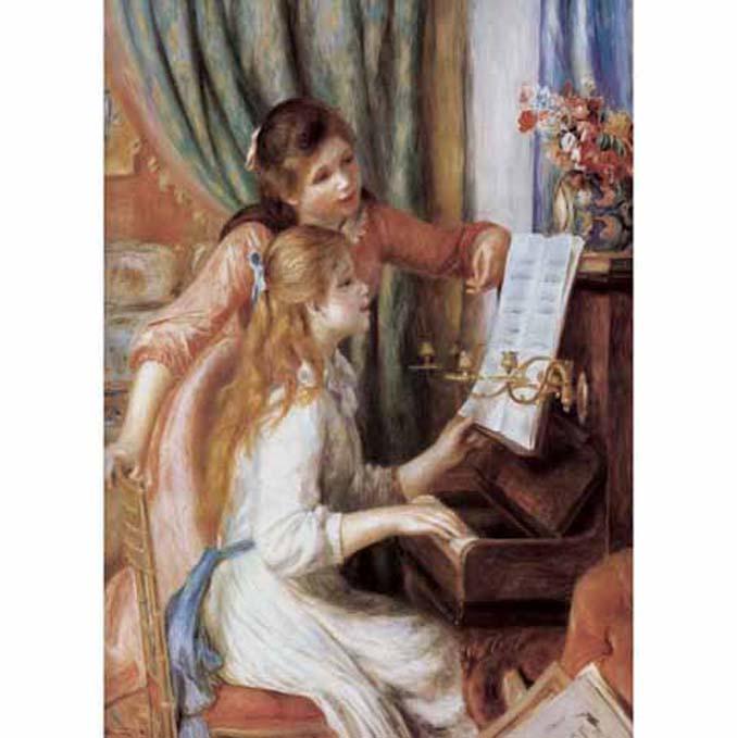 520片拼圖 名畫系列:雷諾瓦-彈鋼琴的少女