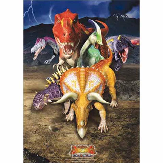 520片夜光拼圖 恐龍王-3D版6隻恐龍