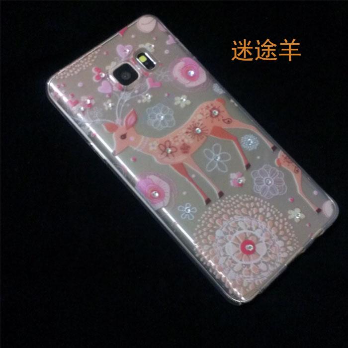 【純米小舖】三星Note5手機殼保護套ETOUCH迷途羊系列水鑽軟殼(迷途羊)~優惠免運