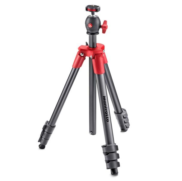 【普羅相機】MANFROTTO Compact 輕巧旅行腳架 (紅色)