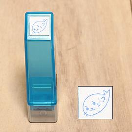「Kodomo小孩牌」手帳小印章 - 031小海豹(藍)