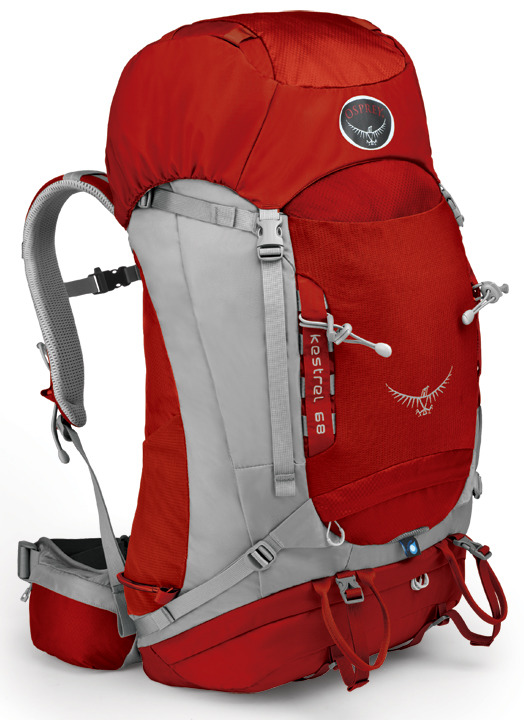 【鄉野情戶外專業】 Osprey |美國|  Kestrel 68 登山背包/自助旅行大背包-火紅M/L/Kestrel68