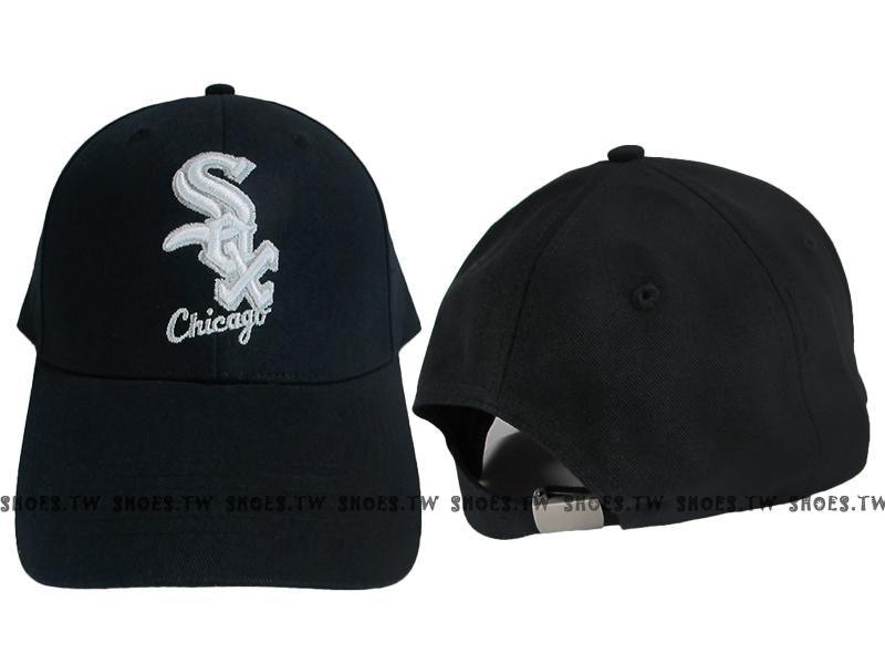 Shoestw【5432003-900】MLB 棒球帽 調整帽 老帽 白襪隊 黑 凸繡