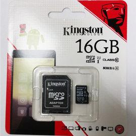 kingston金士頓公司貨16GB記憶卡含轉卡MicroSD Class10 C10高速記憶卡行車記錄器攝影機單眼手機