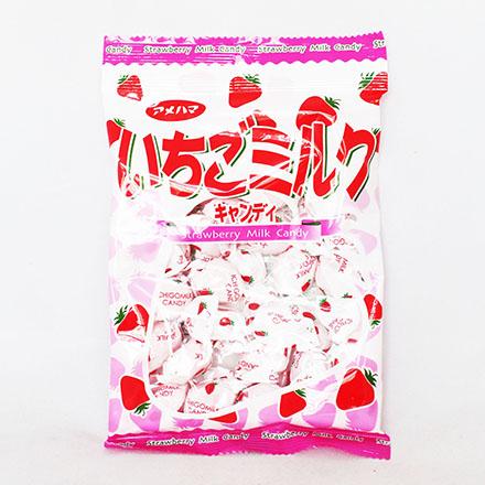 【敵富朗超巿】Amehama製果 草莓牛奶糖 (95g) 賞味期限2017.01.31