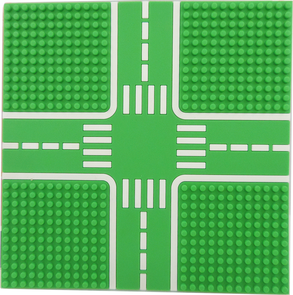 【Tico微型積木】城市道路底板-公園綠 T-9907-B