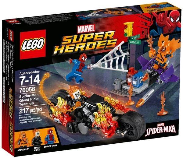 【LEGO 樂高積木】SuperHeros系列-蜘蛛人 惡靈騎士團 LT-76058
