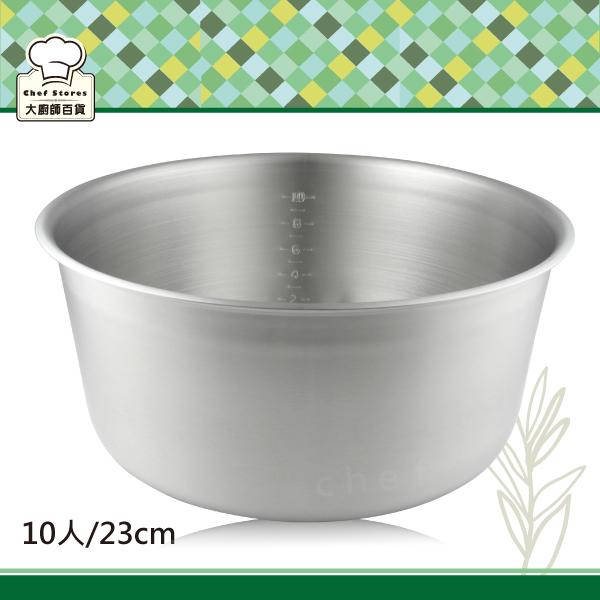 LINOX厚料不銹鋼電鍋內鍋10人份/23cm無捲邊十人份調理湯鍋-大廚師百貨