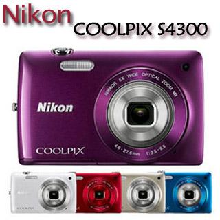 Nikon COOLPIX S4300 光學變焦時尚輕巧機【公司貨】★送  16G記憶卡+電池(含盒內共2顆)+原廠包+多合一讀卡機+小腳架+清潔組+保護貼