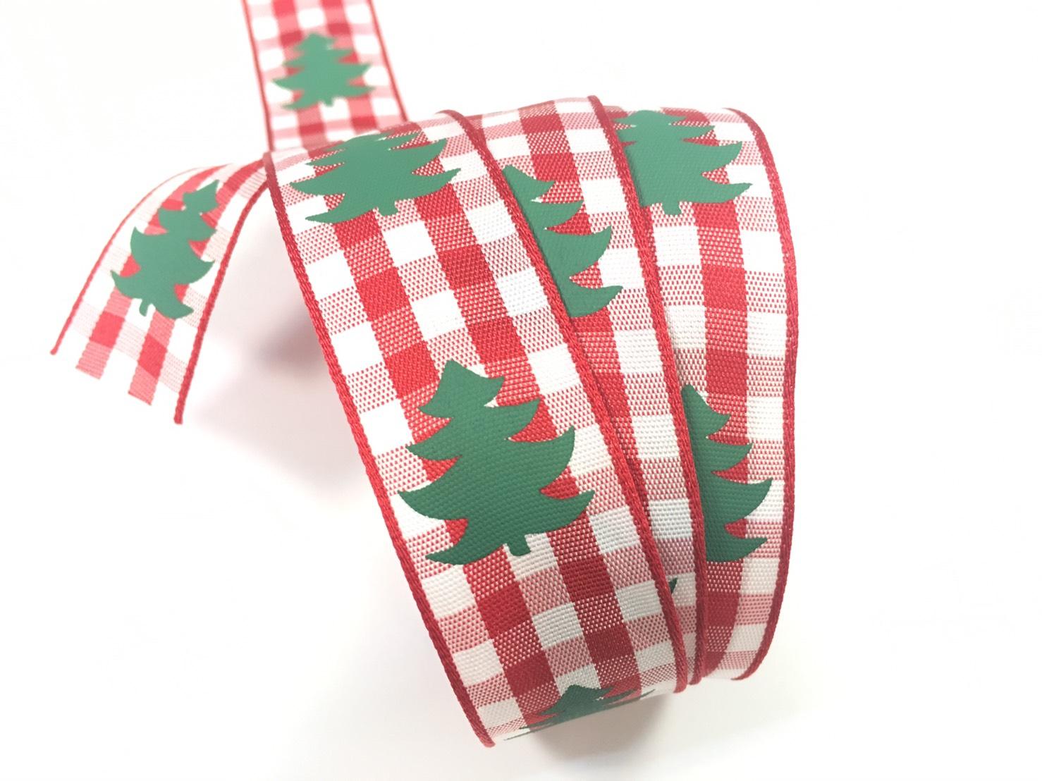 聖誕樹 格紋緞帶 2款 (2色)