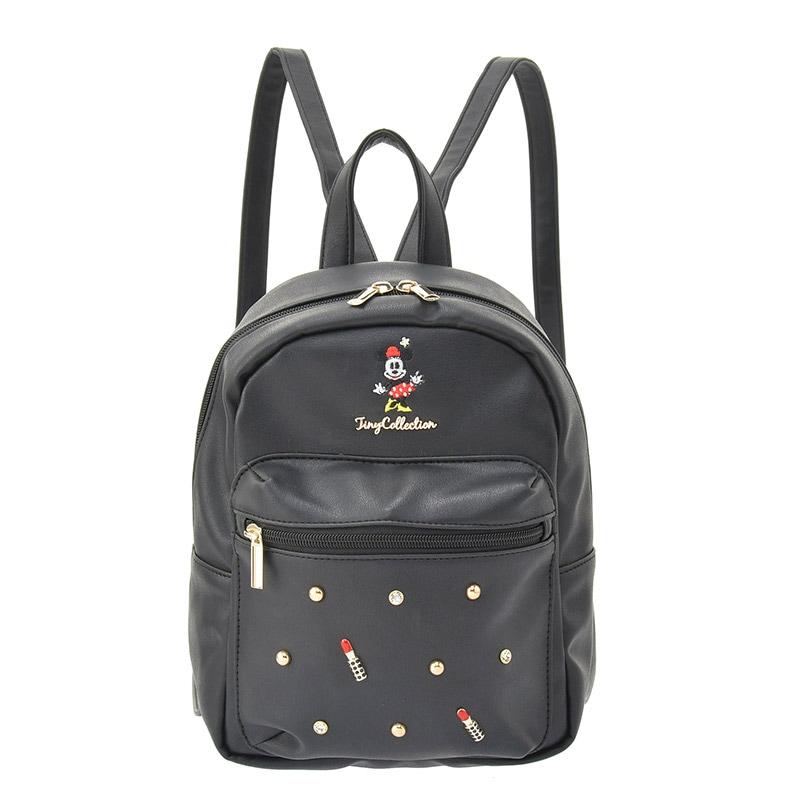 【真愛日本】Tiny後背包-米妮黑   迪士尼 米老鼠米奇 米妮  專賣店限定  日本帶回