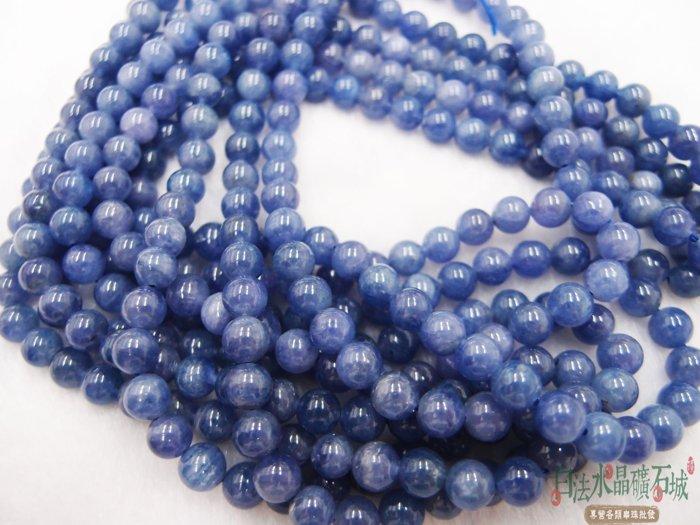 白法水晶礦石城  坦桑尼亞  天然- 坦桑石 丹泉石 6mm 串珠/條珠 首飾材料