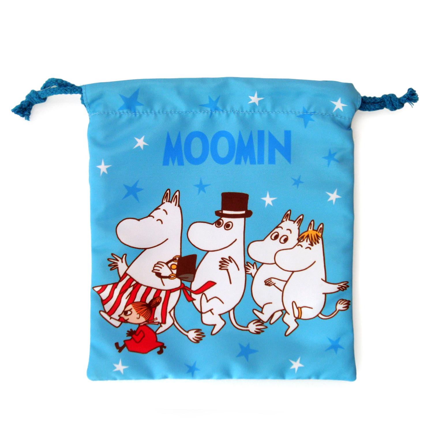 【禾宜精品】正版 Moomin 嚕嚕米 姆明家族 束口袋 束口包 小提袋 時尚包 生活百貨 M103009-A