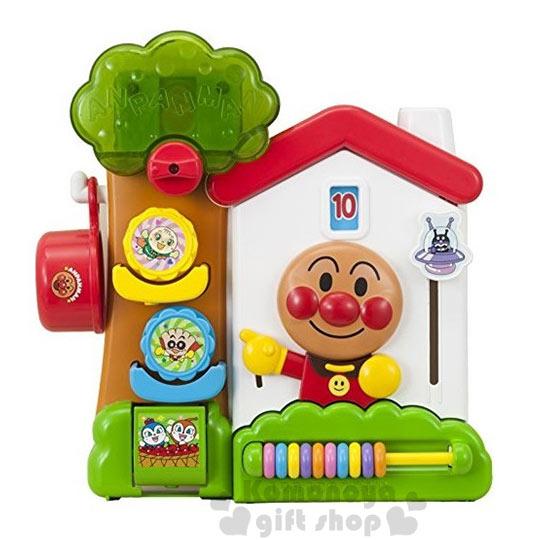 〔小禮堂〕麵包超人 洗澡玩具《房屋.樹.朋友.盒裝》適合1.5歲以上孩童