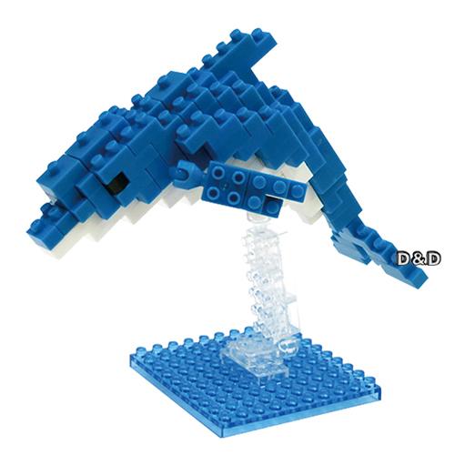 《 Nano Block 迷你積木 》NBC - 117 寬吻海豚