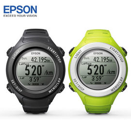 上網登錄送 賽車隨行杯 EPSON SF-110B / SF-110G  Runsense 路跑教練GPS手錶 黑/綠 兩款