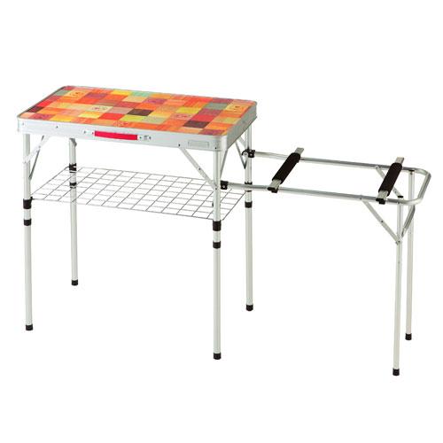 【露營趣】中和 附鋁合金手電筒 Coleman CM-26762 自然風抗菌兩段式廚房桌 料理桌 行動廚房 雙口爐架