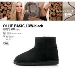 『韓國代購品』L碼-灰色 Ollie 無增高 短筒雪靴 基本款 布標款