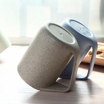 貝合 小麥環保斜口杯 防塵杯 斜口杯 斜柄杯 小麥環保創意馬克杯