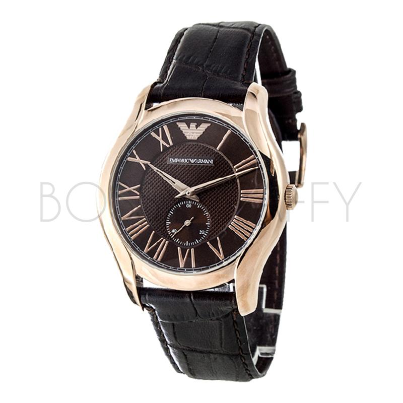 AR1705 ARMANI 亞曼尼 羅馬數字獨立圓錶盤皮帶手錶 男錶