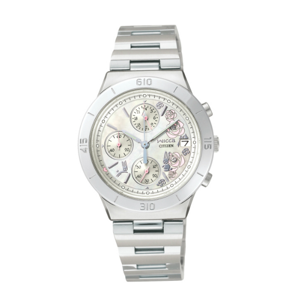 CITIZEN星辰WICCA(FA1006-50D)白玫瑰時尚腕錶/白面32mm