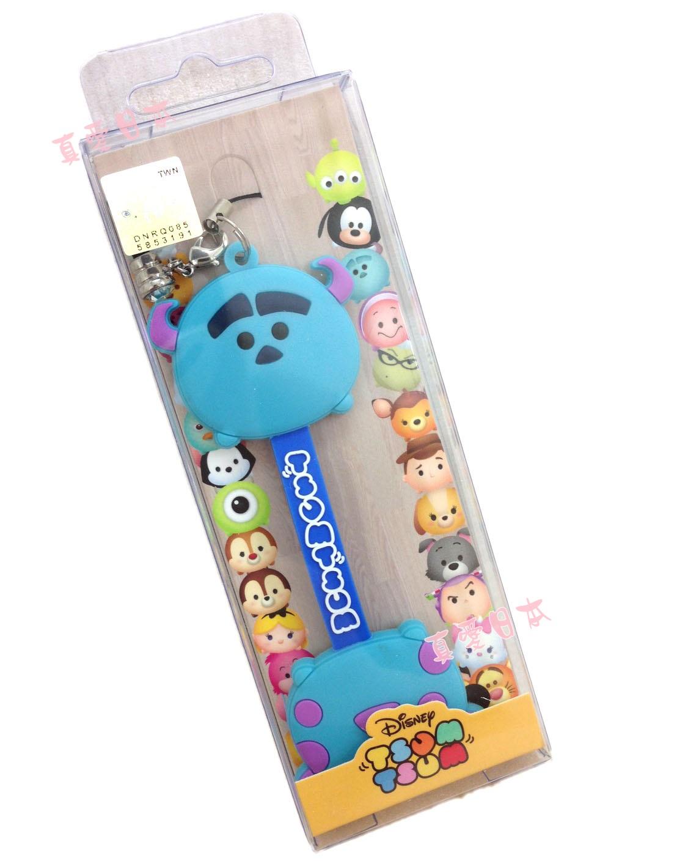 【真愛日本】16072200013吊飾捲線器-毛怪   迪士尼 怪獸電力公司 怪獸大學 耳機集線器 收線器 正品