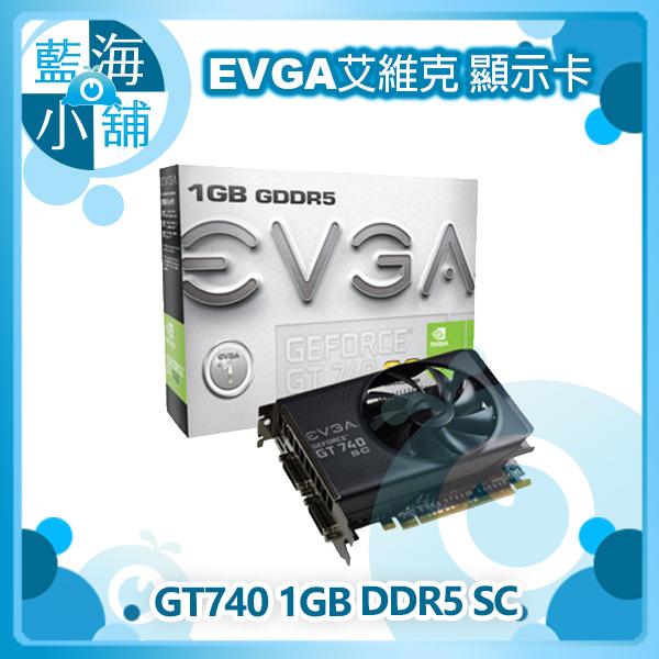 EVGA 艾維克 GT740 1GB DDR5 SC 顯示卡
