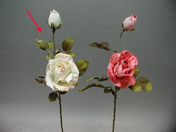 1花1苞 古典玫瑰-乳白 / 人造花 空間 景觀 佈置 造景