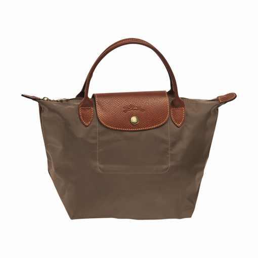 [短柄S號]國外Outlet代購正品 法國巴黎 Longchamp [1621-S號] 短柄 購物袋防水尼龍手提肩背水餃包 枯葉草