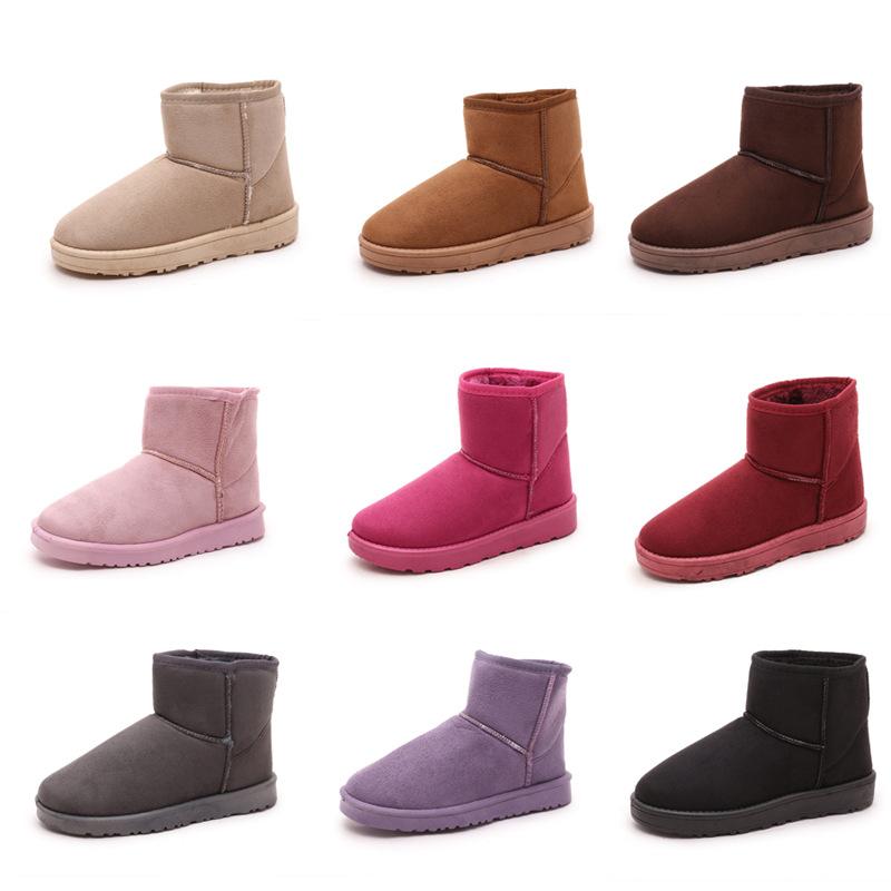2016冬季雪靴超保暖毛毛內裡百搭短筒靴平底韓版女鞋多色基本款好搭