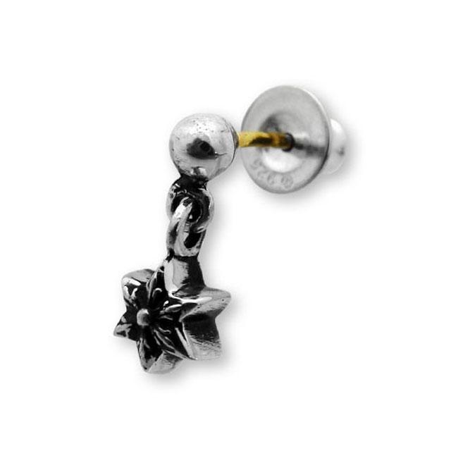 【現貨商品】【Chrome Hearts】迷你六芒星垂墜純銀耳環(CHE-028 0001920000)