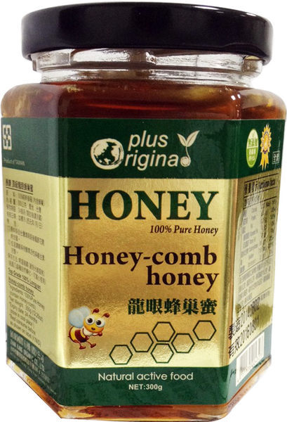 味榮 展康 頂級龍眼蜂巢蜜(內含蜂巢) 300g/罐