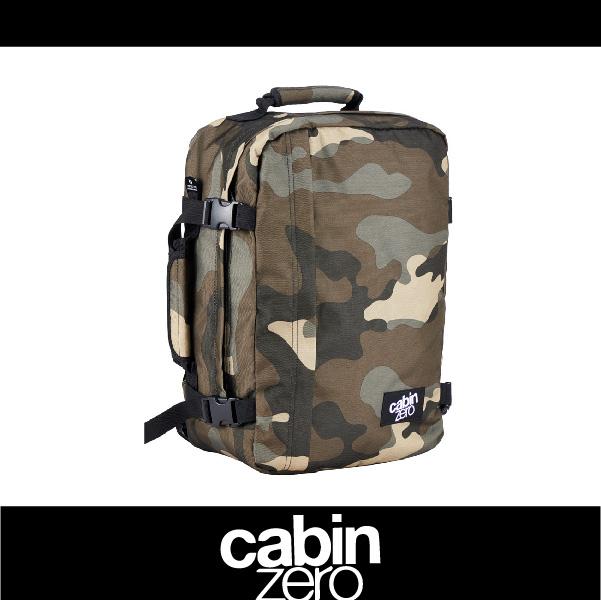 【買就送隨身腰包】CABIN ZERO 161-CZ081306 輕量28L後背包 登機 假期 公事 手提 多用途 可上密碼鎖 國際背包身分證 迷彩色 萬特戶外運動