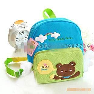 =優生活=韓國兒童書包 可愛小熊 cookietong 後背包 小書包 兒童背包