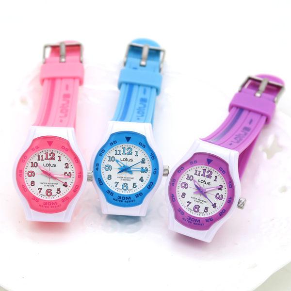 《好時光》LOTUS 專櫃 糖果色 小錶徑 清晰數字  防水30M 兒童錶 (粉 紫 藍 綠) 開學 日本2035機芯
