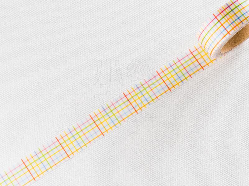 *小徑文化*日本進口和紙膠帶 Word carft系列 - 彩色方眼 ( W02-MK-T0020 )
