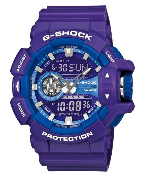 國外代購 CASIO G-SHOCK GA-400A-6A 雙顯 運動防水手錶腕錶電子錶男女錶 紫