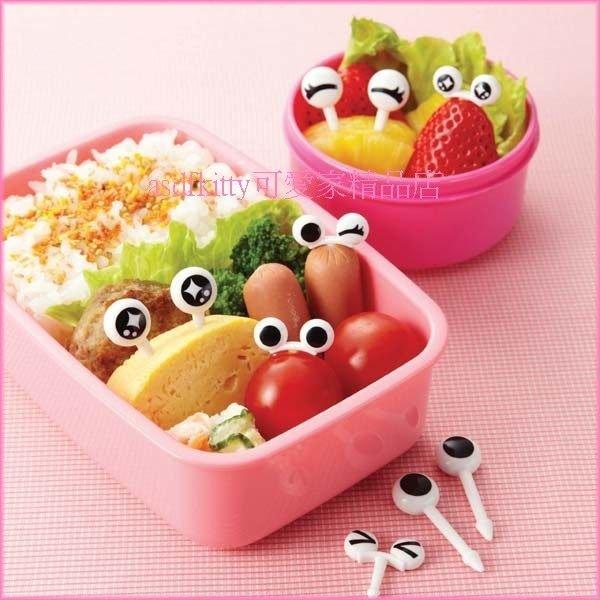 asdfkitty可愛家☆日本msa眼睛造型食物叉-三明治叉-宴會點心叉-裝飾便當-日本正版