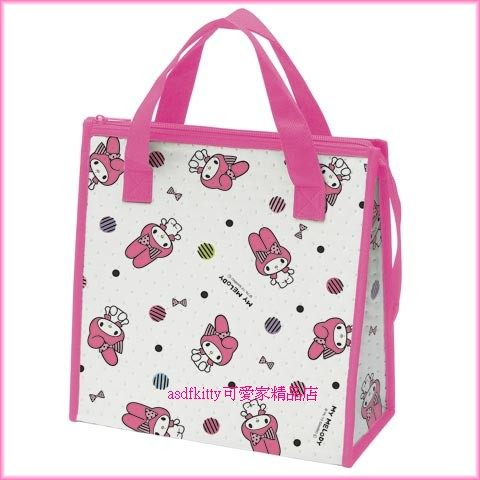 asdfkitty可愛家☆美樂蒂輕量保溫便當袋/手提袋/購物袋-也可保冷-日本正版商品