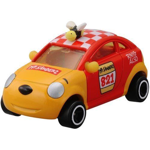 個人用品【asdfkitty】迪士尼小汽車DM-18 夢幻小熊維尼車TAKARA TOMY-正版