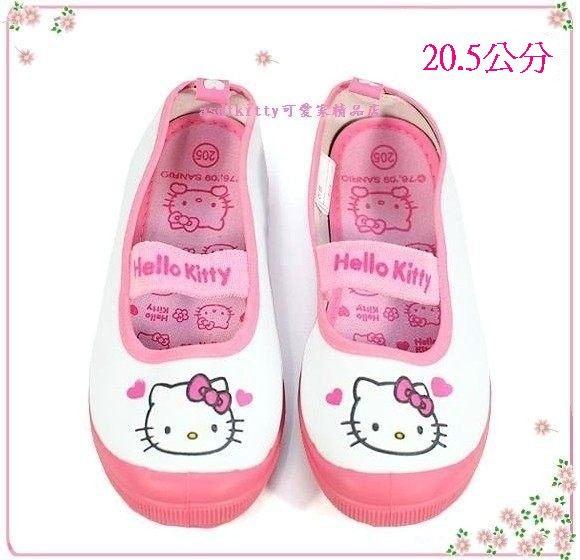 嬰童用品【asdfkitty可愛家】KITTY愛心防滑室內鞋/休閒鞋-20.5公分-韓國版