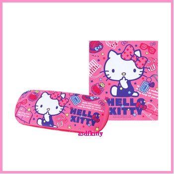 個人用品【asdfkitty】kitty高跟鞋硬殼眼鏡盒附眼鏡布-香港版正版商品
