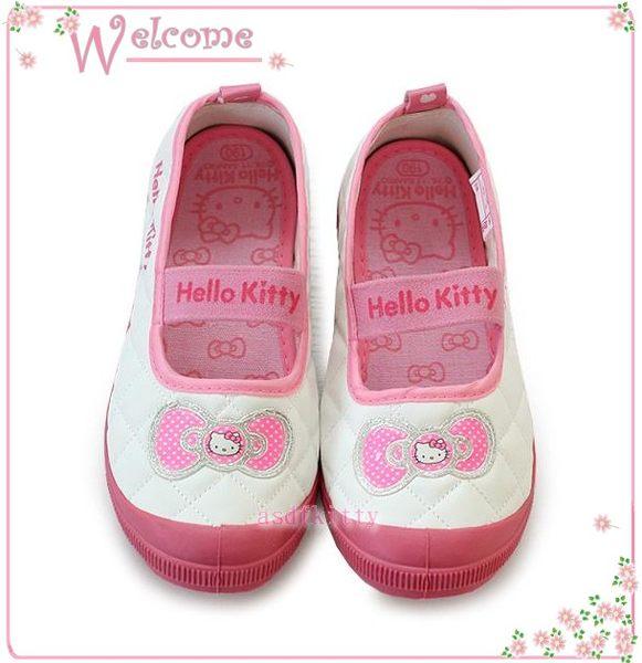 嬰童用品【asdfkitty可愛家】KITTY蝴蝶結防滑室內鞋/休閒鞋-23公分-韓國版