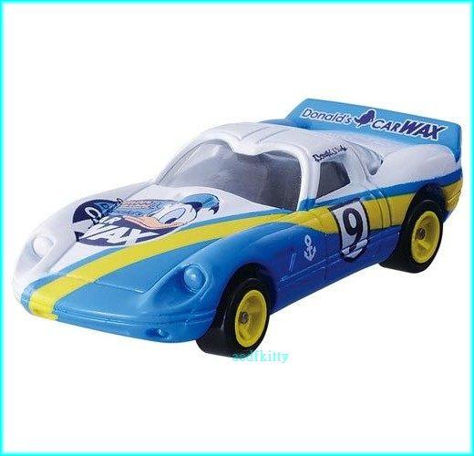 個人用品【asdfkitty】迪士尼小汽車 DM-17 夢幻唐老鴨超級跑車TAKARA TOMY-正版