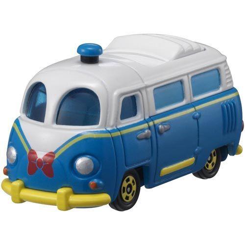 個人用品【asdfkitty】迪士尼小汽車DM-08 夢幻唐老鴨巴士TAKARA TOMY-正版