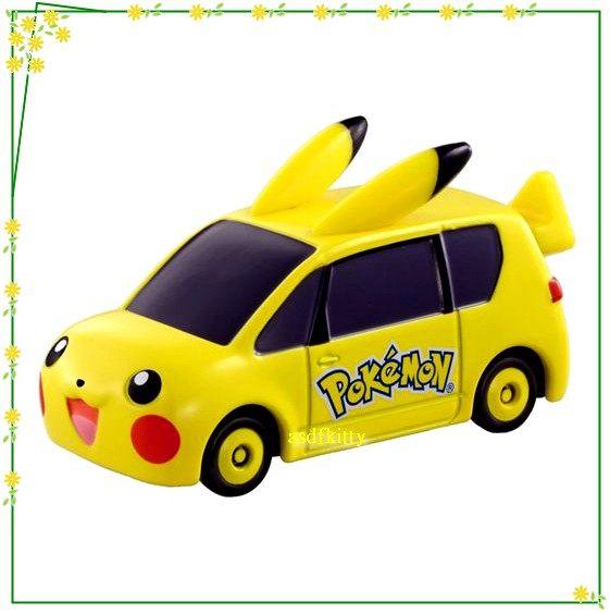 個人用品【asdfkitty】神奇寶貝皮卡丘夢幻小汽車-TOMY Dream TOMICA TM143《TAKARA TOMY》日本正版