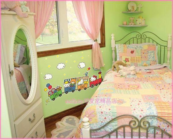 家用【asdfkitty】kitty蒸氣火車夜光大型壁紙-壁貼-牆壁.瓷磚.玻璃.鏡子...都可貼-韓國製